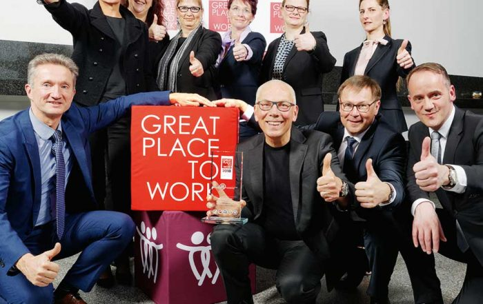 domino-world bei der Preisverleihung Great Place to Work 2018
