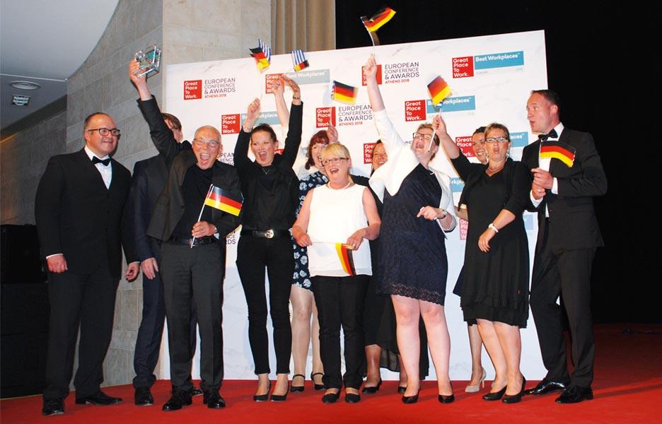 domino-world als Gewinner bei der Preisverleihung von Great Place To Work.
