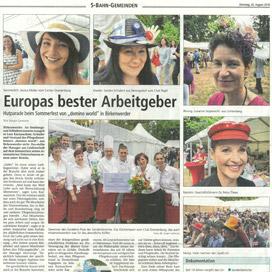 Bericht über domino-world im Oranienburger Generalanzeiger vom 28.08.2018