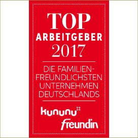 domino-world ist TOP Arbeitgeber 2017 der familienfreundlichsten Unternehmen Deutschlands