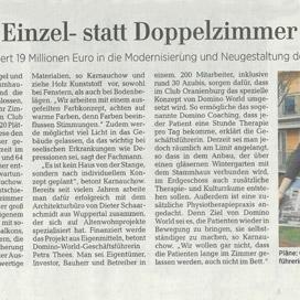 Bericht über domino-world in der Märkische Allgemeine Zeitung vom 28.03.2019
