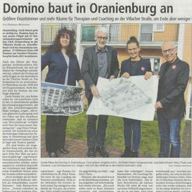 Bericht über domino-world im Oranienburger Generalanzeiger vom 28.03.2019