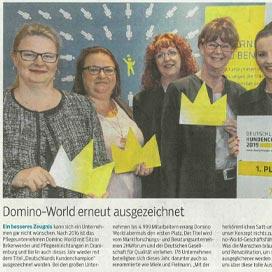Bericht über domino-world im Oranienburger Generalanzeiger vom 29.05.2019