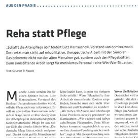 Bericht über domino-world in der Zeitschrift Altenheim vom 20.06.2019
