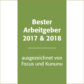 Bester Arbeitgeber 2017 und 2018
