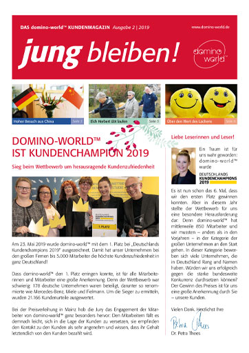 domino-world-Kundenmagazin Ausgabe 2-2019